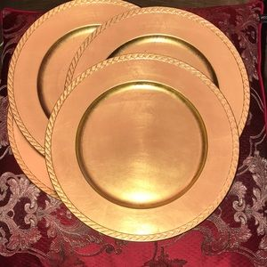 Other - Set of 4 gold tone charger plates